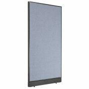 "Office Partition Panel with Raceway, 36-1/4""W x 64""H, Blue"