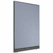 "Office Partition Panel with Raceway, 48-1/4""W x 64""H, Blue"