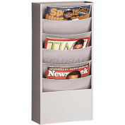 5 Curved Pocket Steel Literature Rack Platinum