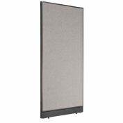 "Office Partition Panel with Raceway, 36-1/4""W x 76""H, Gray"