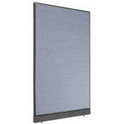 "Office Partition Panel with Raceway, 48-1/4""W x 76""H, Blue"