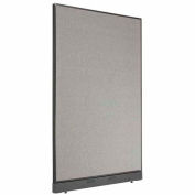 """Office Partition Panel with Raceway, 48-1/4""""W x 76""""H, Gray"""