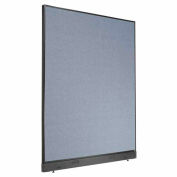 "Office Partition Panel with Raceway, 60-1/4""W x 76""H, Blue"
