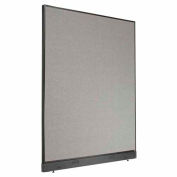 "Office Partition Panel with Raceway, 60-1/4""W x 76""H, Gray"