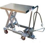 Vestil Stainless Steel Pneumatic Mobile Scissor Lift Table AIR-1000-PSS 1000 Lb.