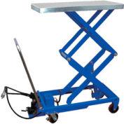 Vestil Pneumatic-Hydraulic Mobile Scissor Lift Table AIR-800-D 800 Lb. Capacity