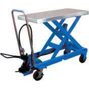Vestil Pneumatic-Hydraulic Mobile Scissor Lift Table AIR-1000 1000 Lb. Capacity