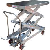 Vestil Stainless Steel Pneumatic Mobile Scissor Lift AIR-1500-D-PSS 1500 Lb.