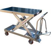 Vestil Stainless Steel Pneumatic Mobile Scissor Lift Table AIR-2000-PSS 2000 Lb.