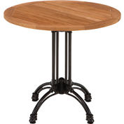 "KFI Outdoor 32"" Round Teak Table Top & Cast Aluminim Base"