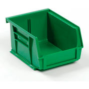 Global™ Plastic Stackable Bin 4-1/8 x 5-3/8 x 3, Green - Pkg Qty 24
