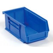 Global™ Hanging & Stacking Storage Bin 4-1/8 x 7-3/8 x 3, Blue - Pkg Qty 24