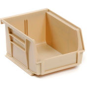 Global™ Stackable Storage Bin 4-1/8 x 7-3/8 x 3, Beige - Pkg Qty 24