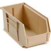 Global™ Stackable Storage Bin 5-1/2 x 10-7/8 x 5, Beige - Pkg Qty 12