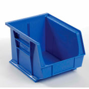 Global™ Hanging & Stacking Storage Bin 8-1/4 x 10-3/4 x 7, Blue - Pkg Qty 6