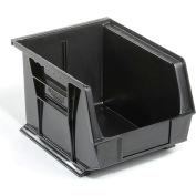 Global™ Plastc Stacking Bins - Parts Storage Bin 8-1/4 x 10-3/4 x 7, Black - Pkg Qty 6