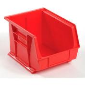 Global™ Plastic Storage Bin - Small Parts 8-1/4 x 10-3/4 x 7, Red - Pkg Qty 6