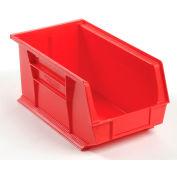 Global™ Plastic Storage Bin - Small Parts 8-1/4 x 14-3/4 x 7, Red - Pkg Qty 12