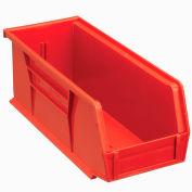 Global™ Plastic Storage Bin - Small Parts 4-1/8 x 10-7/8 x 4, Red - Pkg Qty 12