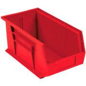 Global™ Plastic Storage Bin - Small Parts 5-1/2 x 14-3/4 x 5, Red - Pkg Qty 12
