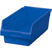 "Akro-Mils ShelfMax® Plastic Shelf Bin Nestable 30088 - 8-3/8""W x 17-7/8""D x 6""H Blue - Pkg Qty 8"