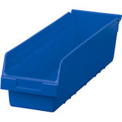 "Akro-Mils ShelfMax® Plastic Shelf Bin Nestable 30094 - 6-5/8""W x 23-5/8""D x 6""H Blue - Pkg Qty 10"