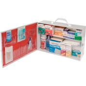 Global First Aid Kit - 2 Shelf Cabinet, 50-75 Person
