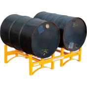Vestil Stackable 2 Drum Storage Rack DRUM-RACK-2 1600 Lb. Capacity