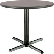 "KFI - T30RD-B2015-GPN - 30"" Round Lunchroom Pedestal Table Graphite Nebula"