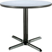 "KFI - T42RD-B2025-GN - 42"" Round Lunchroom Pedestal Table Gray Nebula"