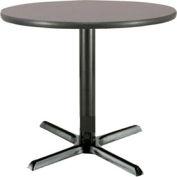 "KFI 42"" Round Restaurant Table - Laminate - Graphite Nebula"