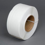 """Polypropylene Strapping 1/4"""" x .024"""" x 18,000' White 9"""" x 8"""" Core"""