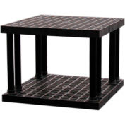"""Structural Plastic Vented Shelving, 36""""W x 36""""D x 27""""H , Black"""