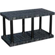 """Structural Plastic Vented Shelving, 48""""W x 24""""D x 27""""H, Black"""