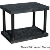 """Structural Plastic Solid Shelving, 36""""W x 24""""D x 27""""H, Black"""