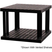 """Structural Plastic Solid Shelving, 36""""W x 36""""D x 27""""H, Black"""