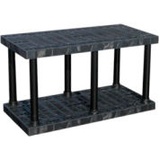 """Structural Plastic Solid Shelving, 48""""W x 24""""D x 27""""H, Black"""