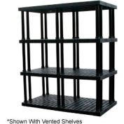 """Structural Plastic Solid Shelving, 66""""W x 36""""D x 75""""H, Black"""