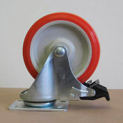 "5"" Polyurethane Swivel Caster with Total Lock 5125PPY-S-TL for Little Giant® Carts"