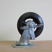 "8"" Mold-on Rubber Swivel Caster with Brake 8218-SR-BK for Little Giant® Carts"