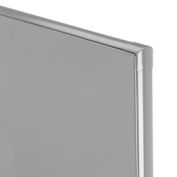 "Polymer Partition Panel - 57-3/4"" W x 55"" H Gray"
