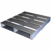 Rackable Extruded Plastic Pallet 36x32 2-Way Entry 1500 Lb Fork Capacity
