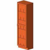 "Diversified Woodcrafts Wood Solid Door Tall Storage Cabinet 313-2416 - 24""W x 16""D x 84""H"