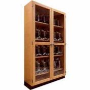 "Diversified Woodcrafts Wood Clear Door Storage Cabinet 358-3622 - 36""W x 22""D x 84""H"