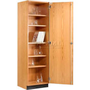 "Diversified Woodcrafts Wood Solid Door Tall Storage Cabinet 313-2422 - 24""W x 22""D x 84""H"