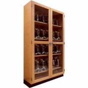 "Diversified Woodcrafts Wood Clear Door Storage Cabinet 372-4816 - 48""W x 16""D x 84""H"