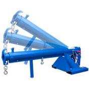 """Vestil Adjustable Pivoting Forklift Jib Boom Crane LM-OBT-3-24 3000 Lb. 24"""" Centers"""