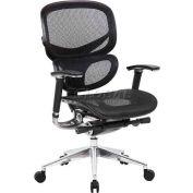 Boss Ergonomic Mesh Back Task Chair - High Back - Black