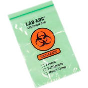 "Green Tint 3-Wall Style Specimen Transfer Bag - Printed ""Biohazard"" 6""W x 9""L, Pkg Qty 1,000"