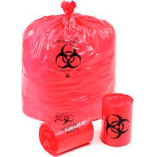 "Linear Low Density Red Infectious Waste Liners, 1.5 mil, 44 Gallon, 37""W x 50""L, 60/Case"
